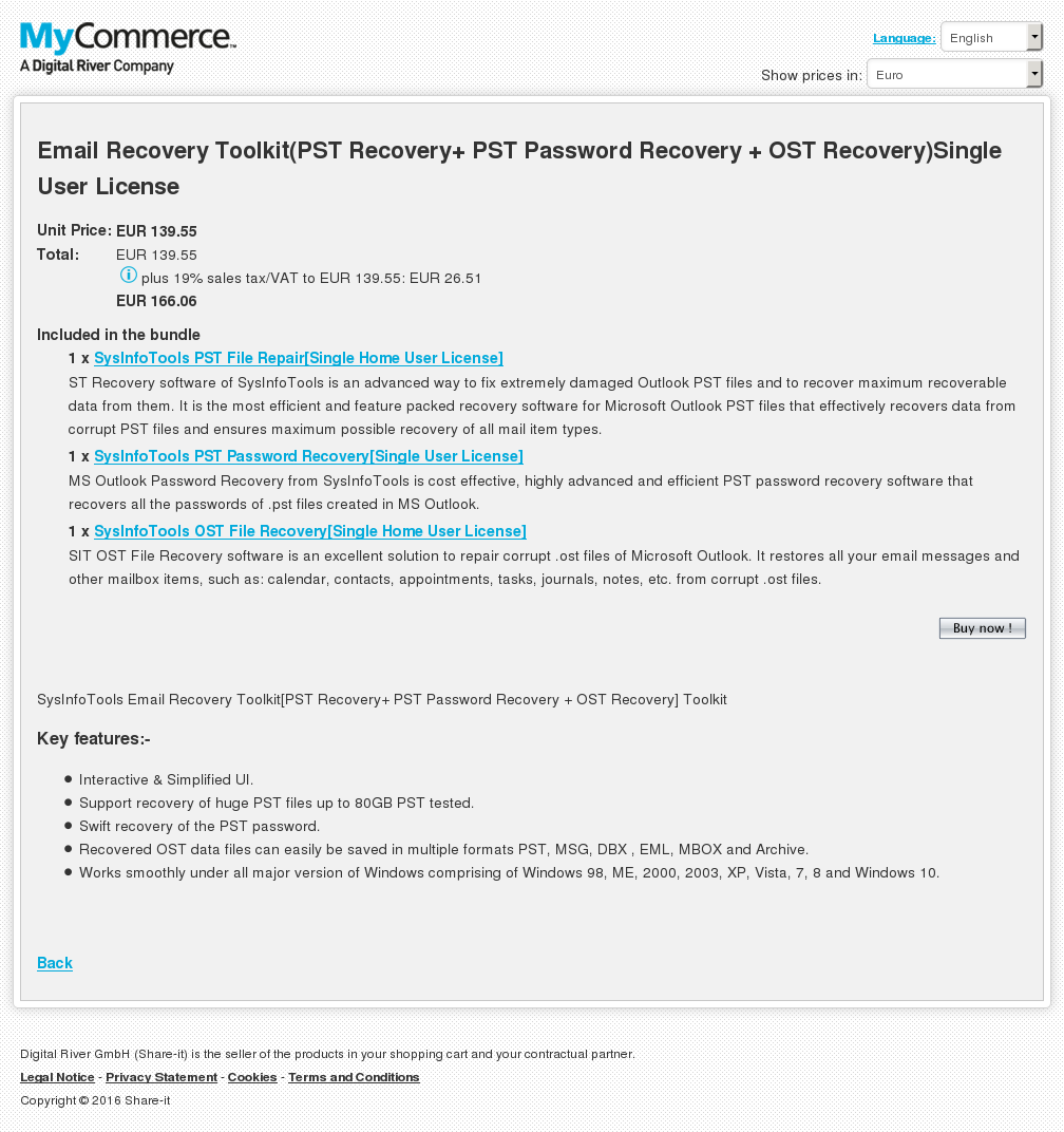 Email Recovery Toolkit Pst Password Ost Single User License Download