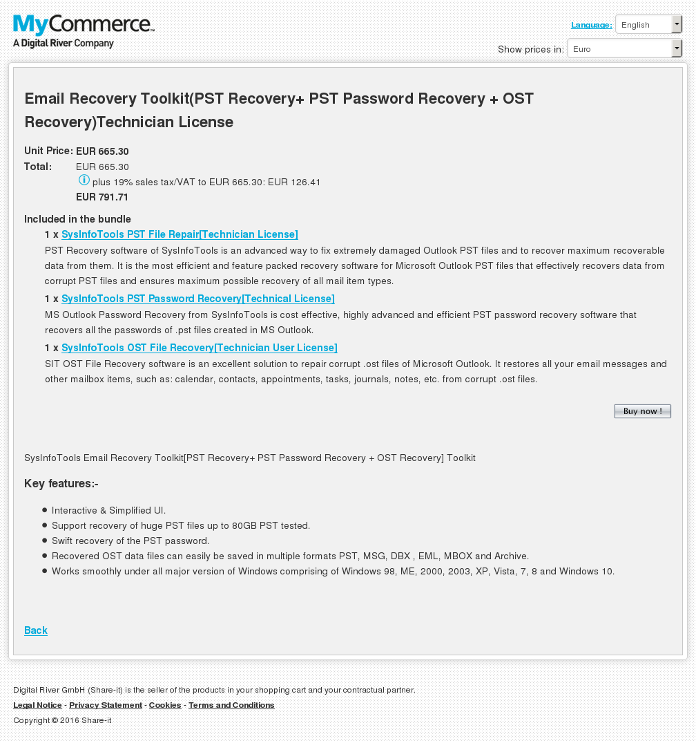 Email Recovery Toolkit Pst Password Ost Technician License Key Information