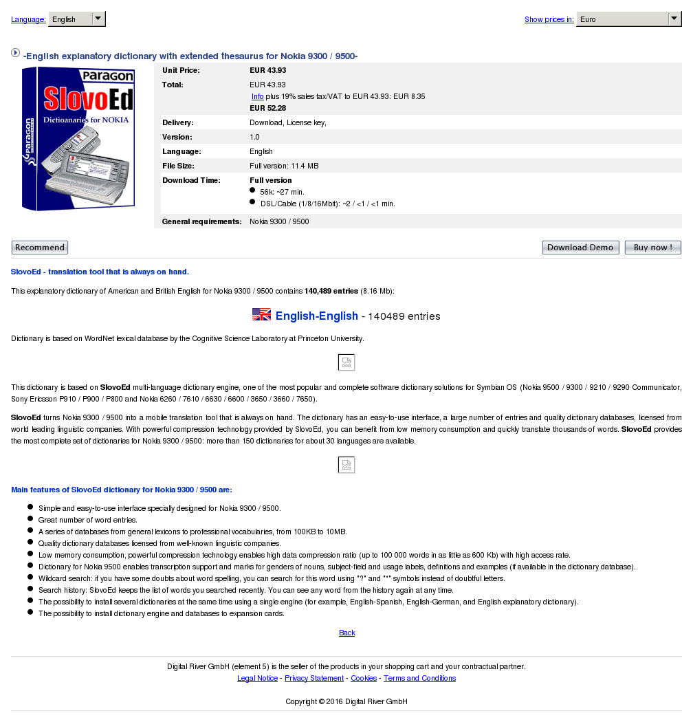 English Explanatory Dictionary With Extended Thesaurus Nokia Download