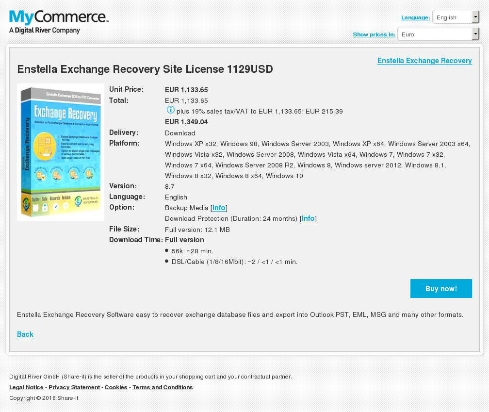 Enstella Exchange Recovery Site License Usd Features