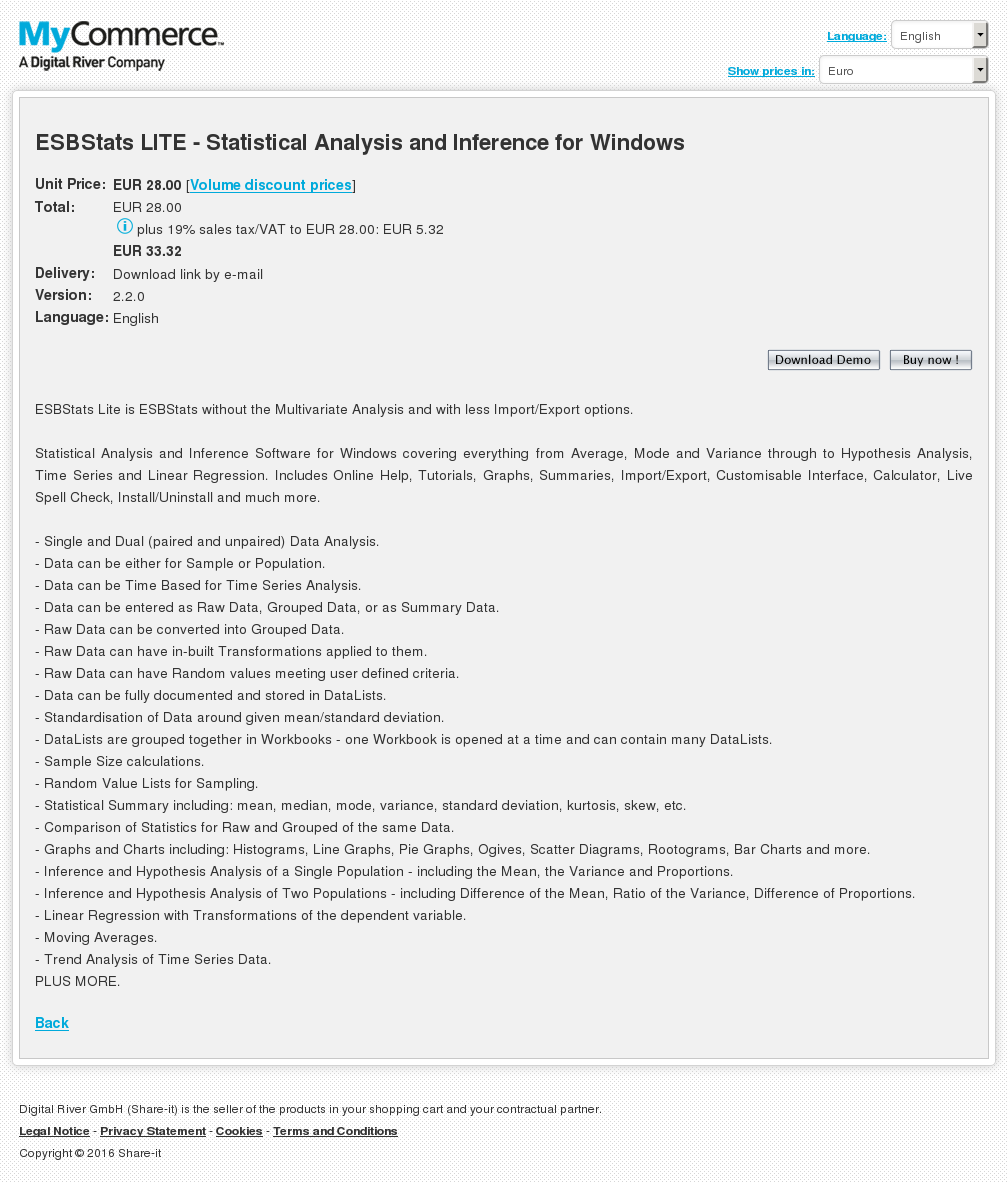 Esbstats Lite Statistical Analysis Inference Windows Howto