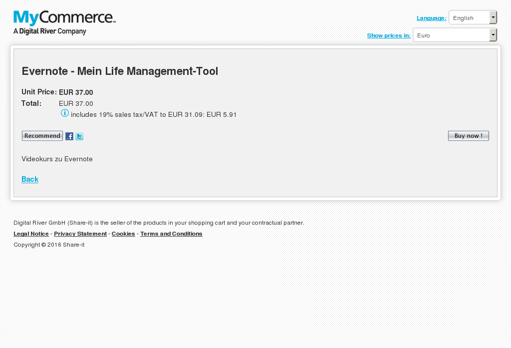 Evernote Mein Life Management Tool Free