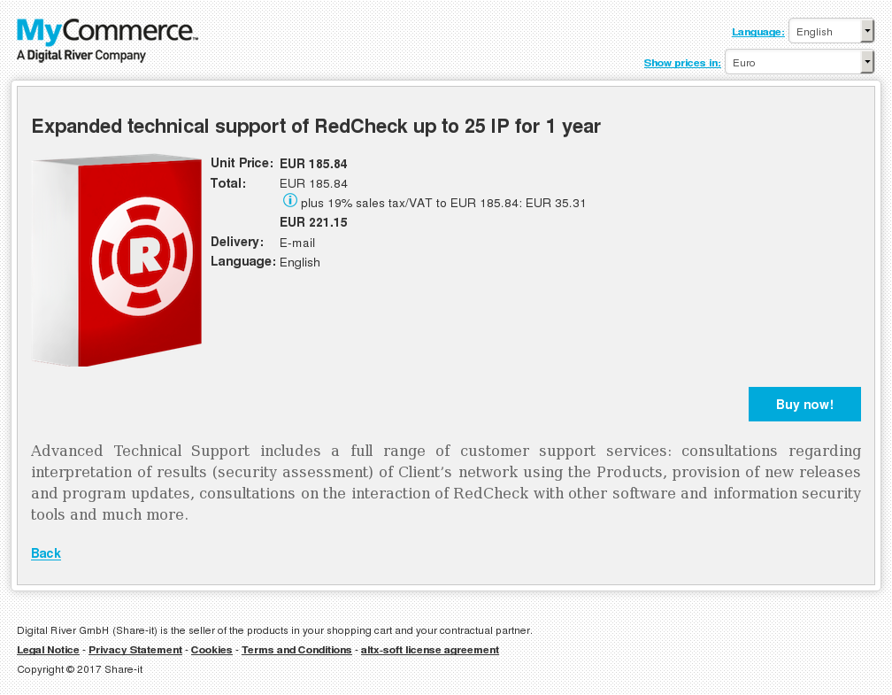 Expanded Technical Support Redcheck Year Key Information