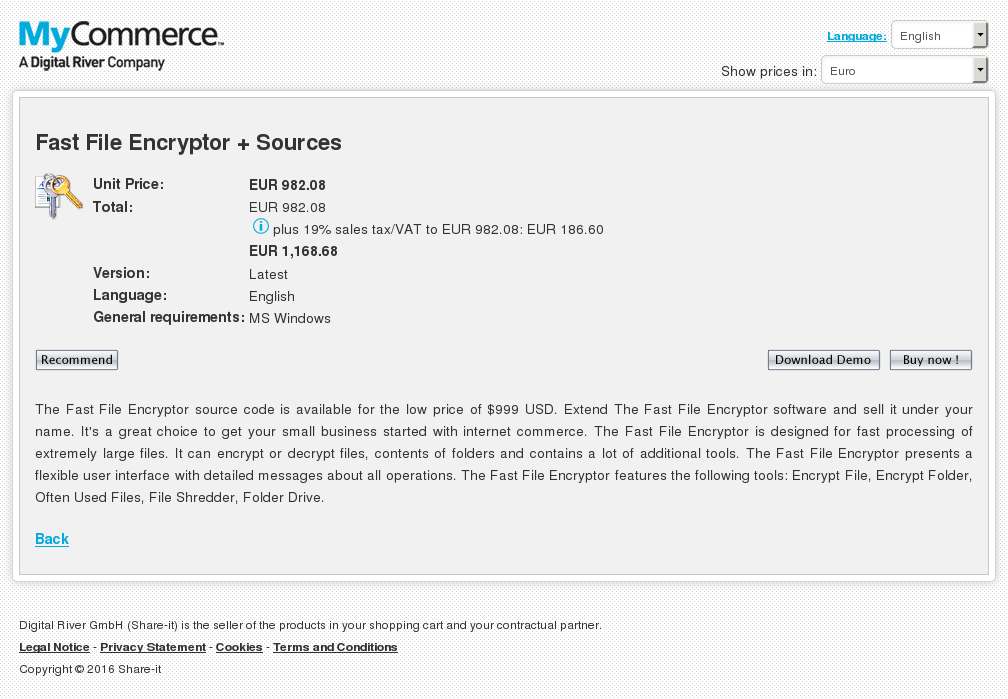 Fast File Encryptor Sources Free