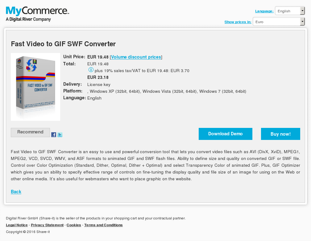 Fast Video Gif Swf Converter Features
