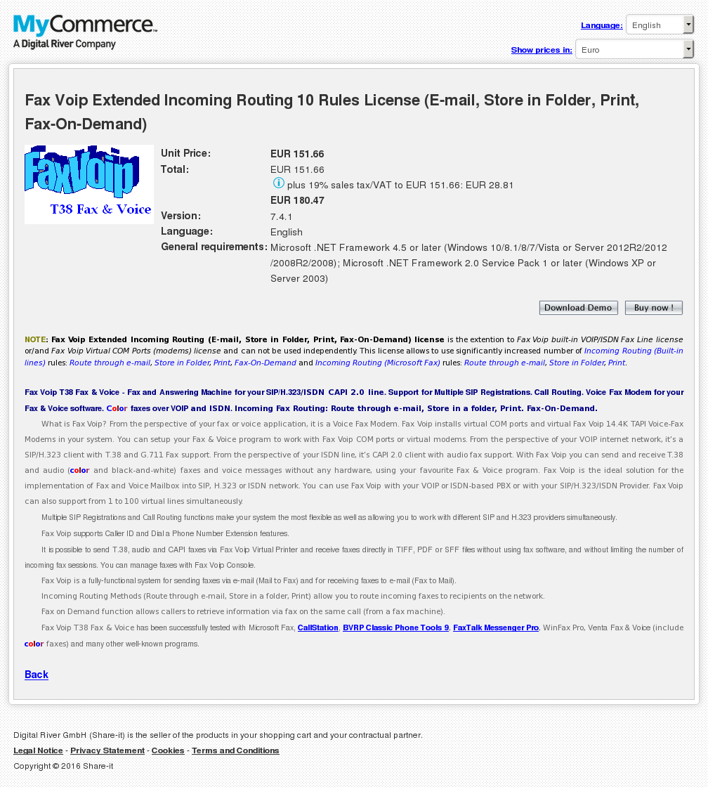 Fax Voip Extended Incoming Routing Rules License Mail Store Folder Print Demand Alternative