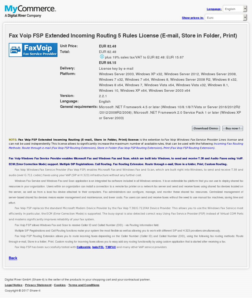 Fax Voip Fsp Extended Incoming Routing Rules License Mail Store Folder Print Alternative