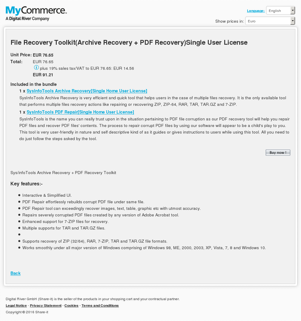 File Recovery Toolkit Archive Pdf Single User License Key Information