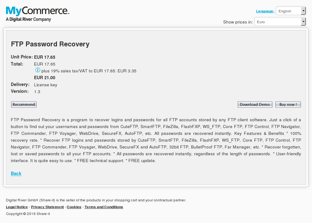Ftp Password Recovery Download