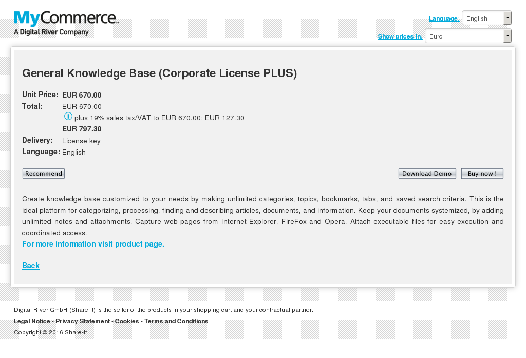 General Knowledge Base Corporate License Plus Howto
