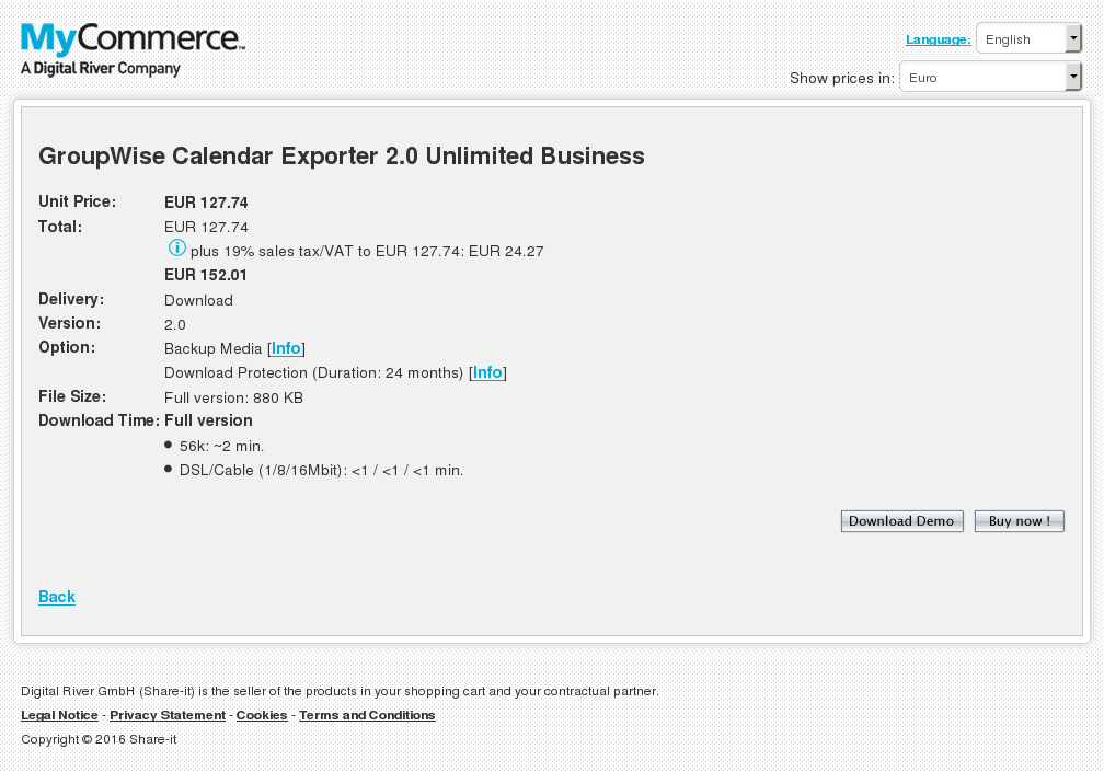 Groupwise Calendar Exporter Unlimited Business Alternative