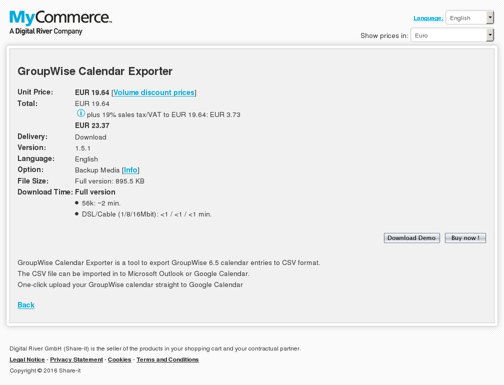 Groupwise Calendar Exporter Howto