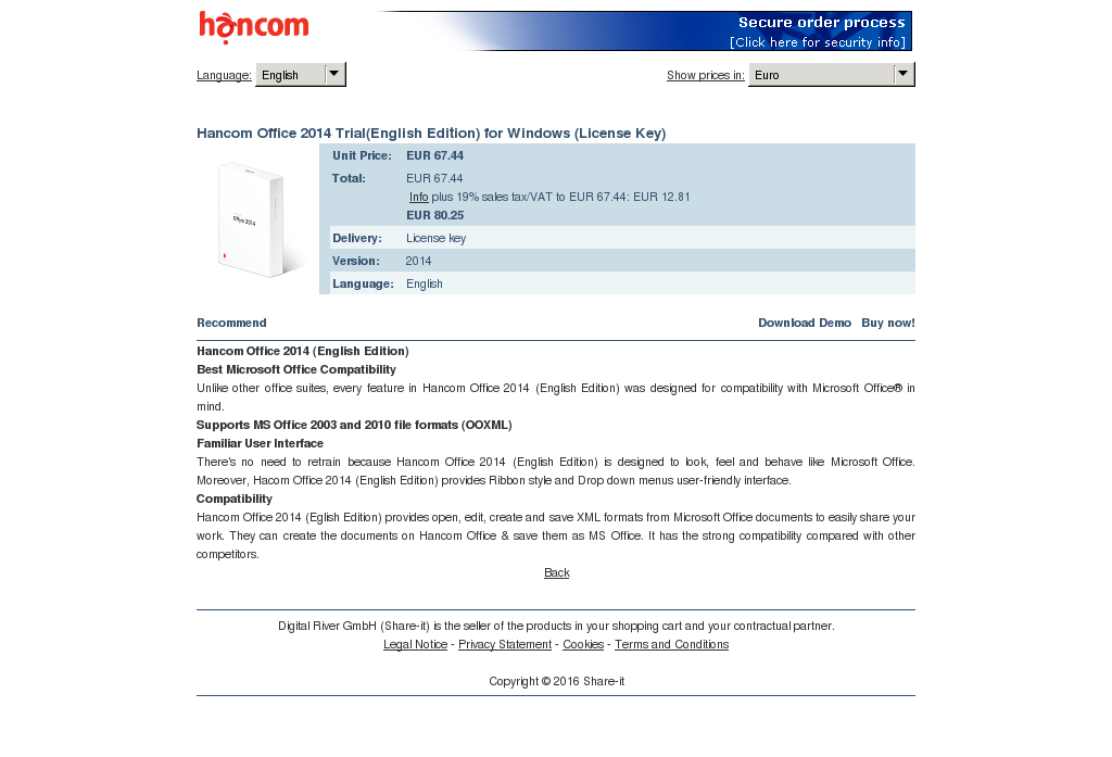 Hancom Office Trial English Edition Windows License Key Review