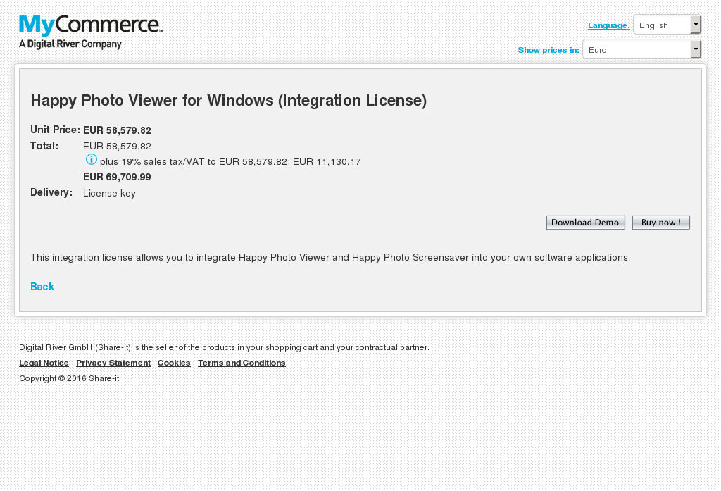 Happy Photo Viewer Windows Integration License Key Information