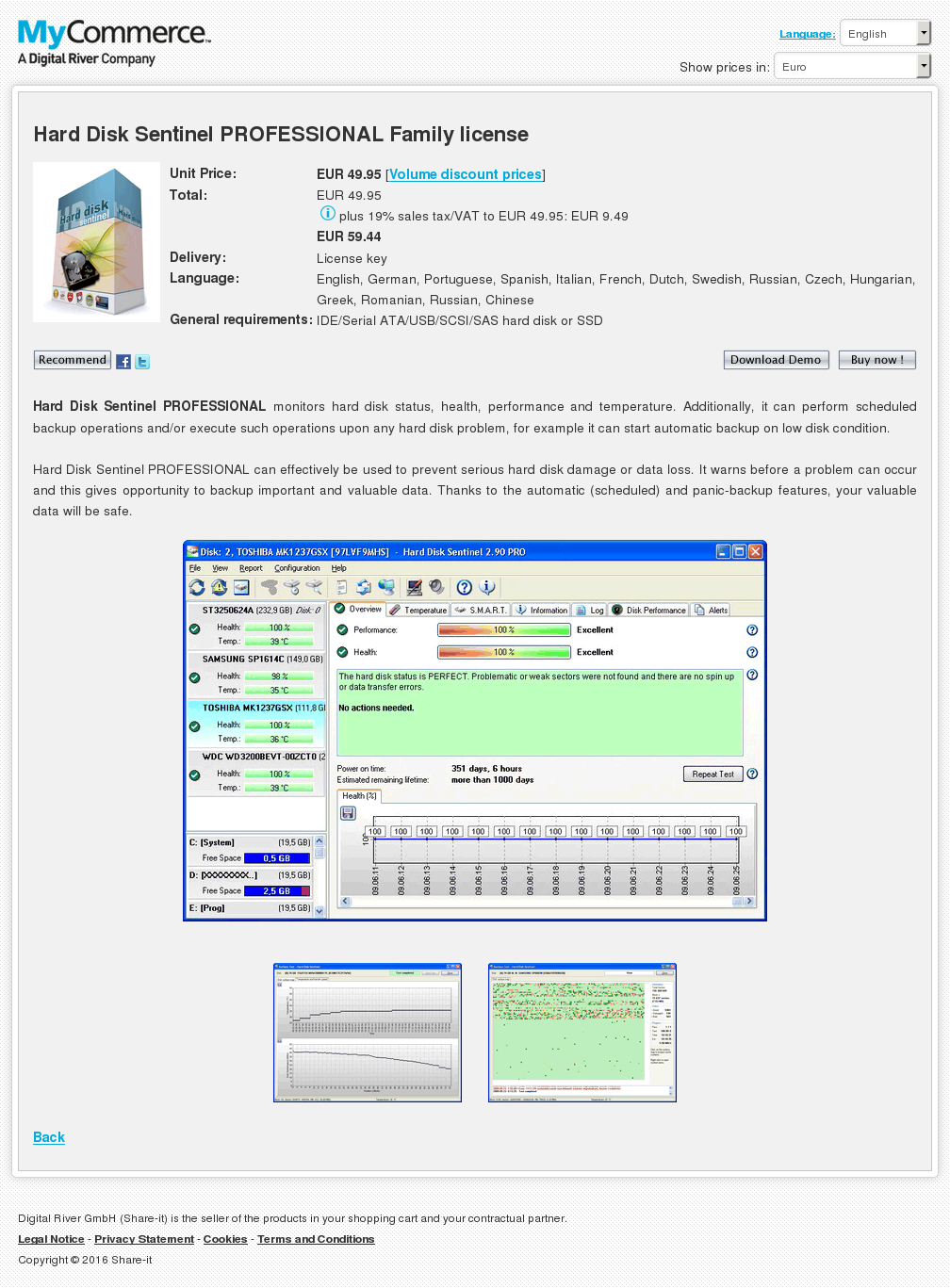 Hard Disk Sentinel Professional Family License Download