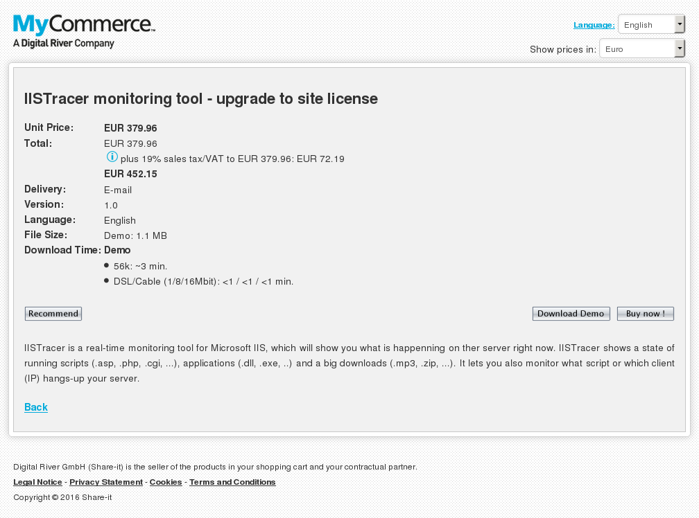 Iistracer Monitoring Tool Upgrade Site License Howto