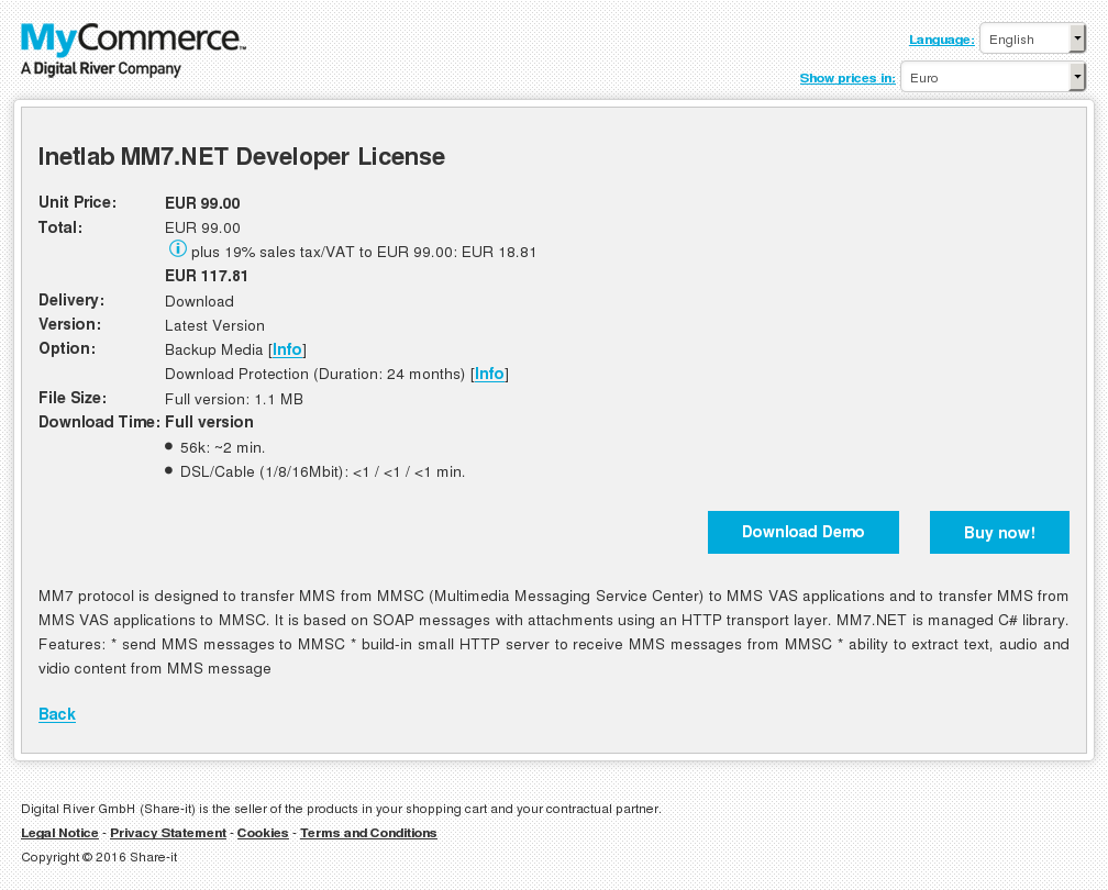Inetlab Net Developer License