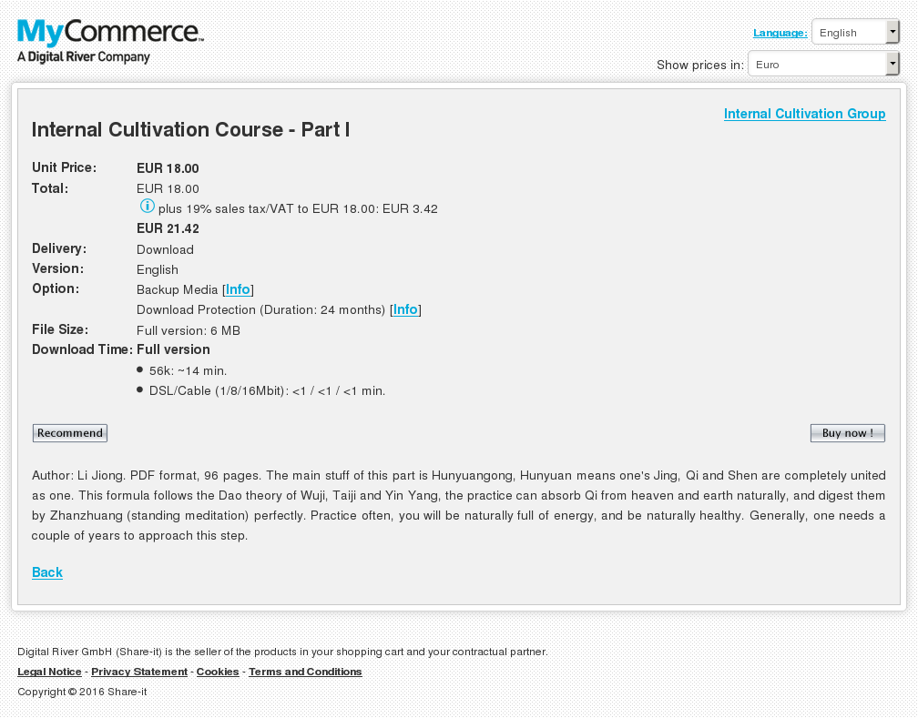 Internal Cultivation Course Part Download