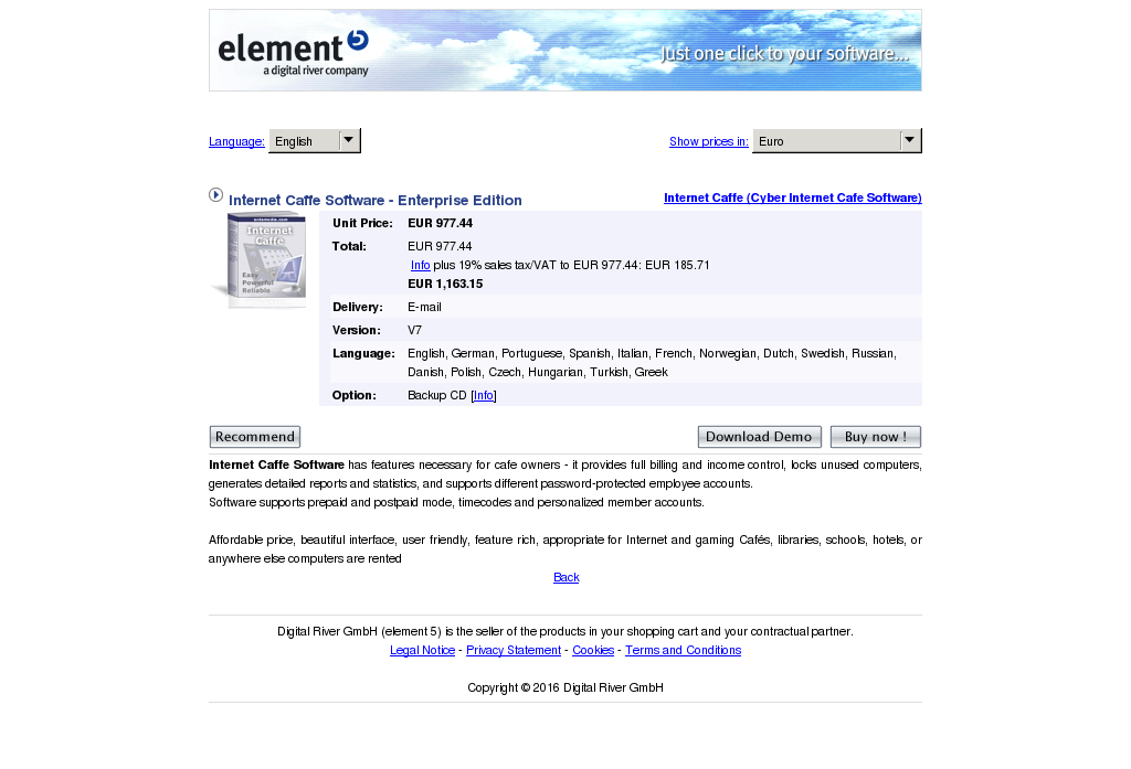Internet Caffe Software Enterprise Edition Free