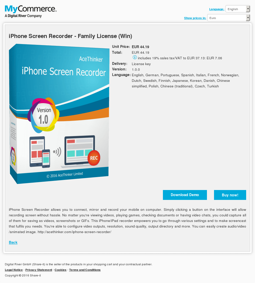 Iphone Screen Recorder Family License Win Features
