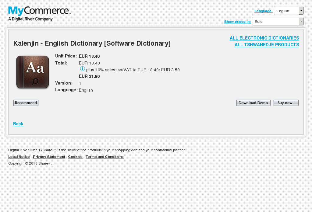 Kalenjin English Dictionary Software Features