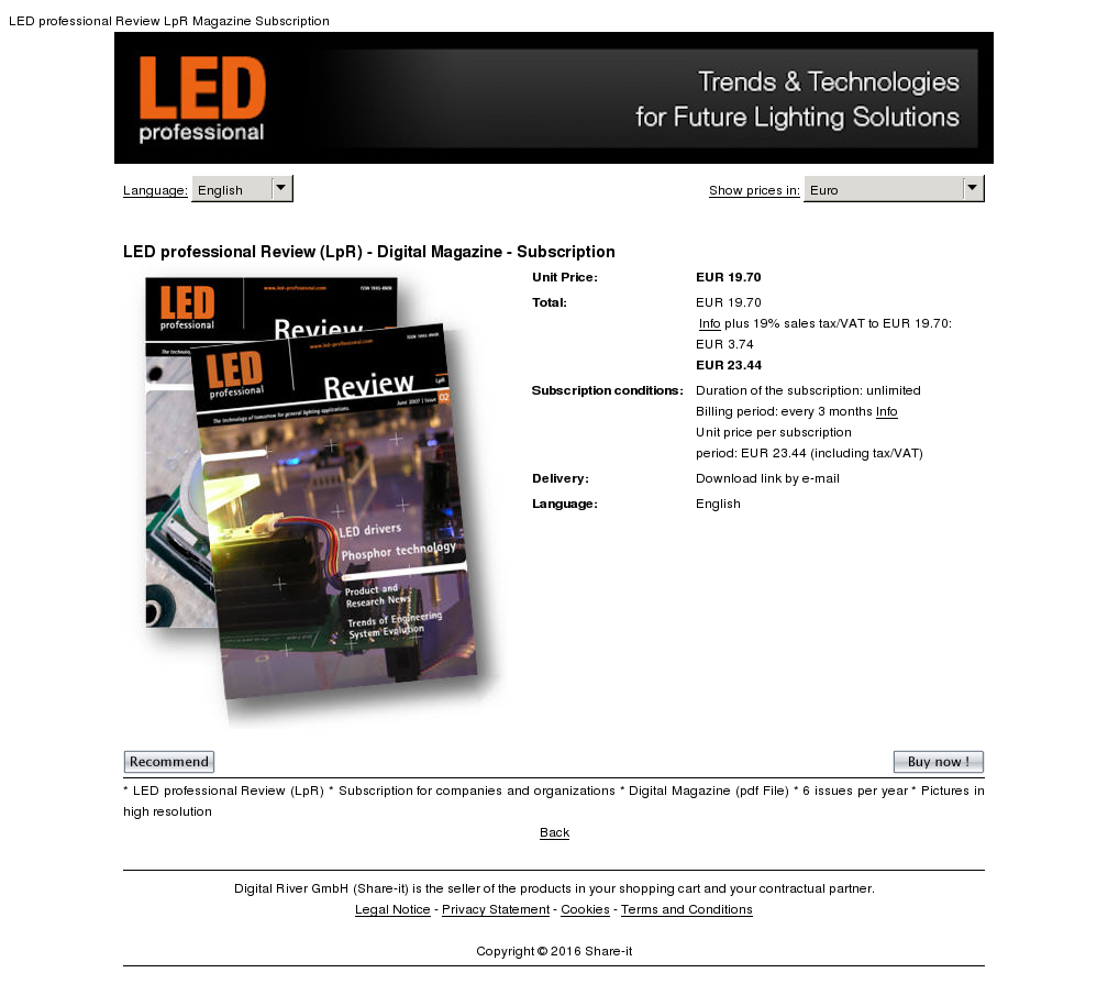 Led Professional Review Lpr Digital Magazine Subscription Download
