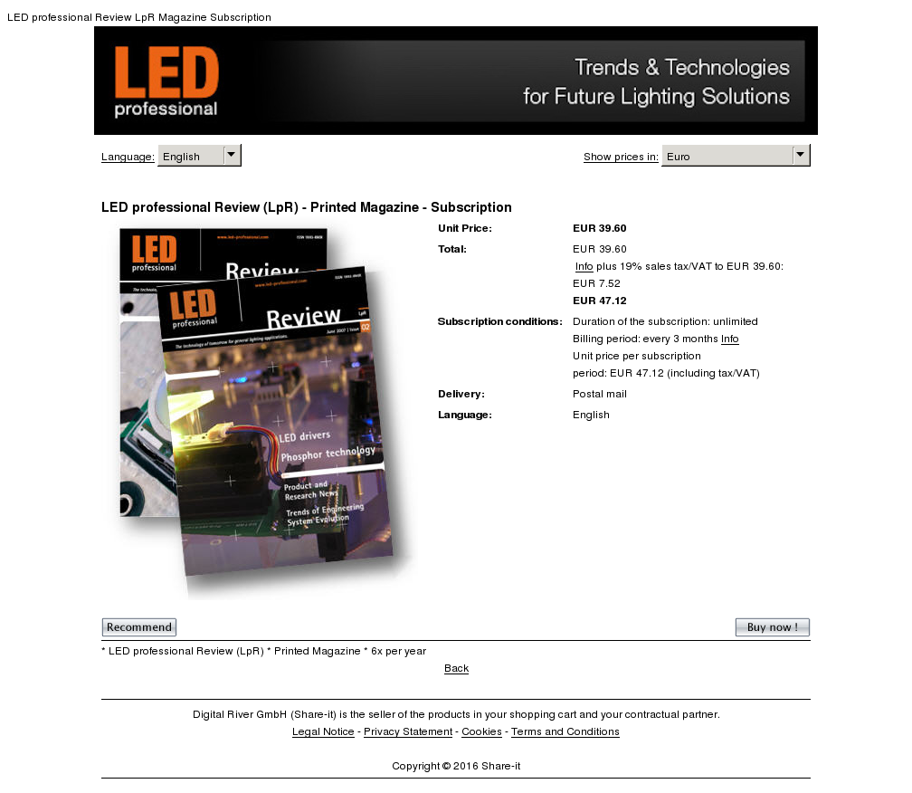Led Professional Review Lpr Printed Magazine Subscription Download