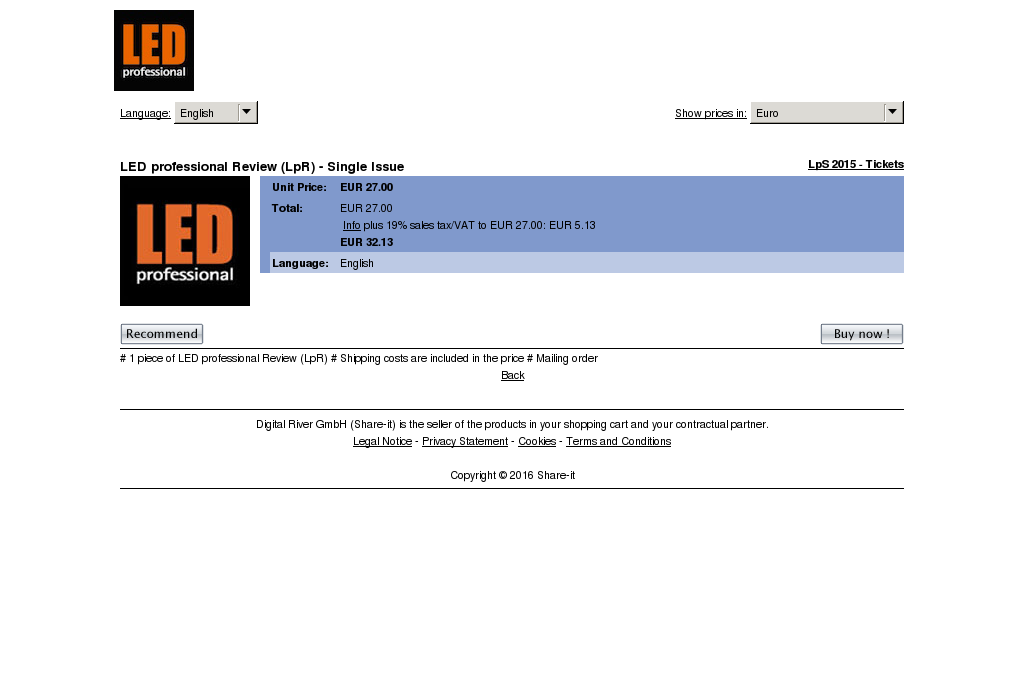 Led Professional Review Lpr Single Issue Download