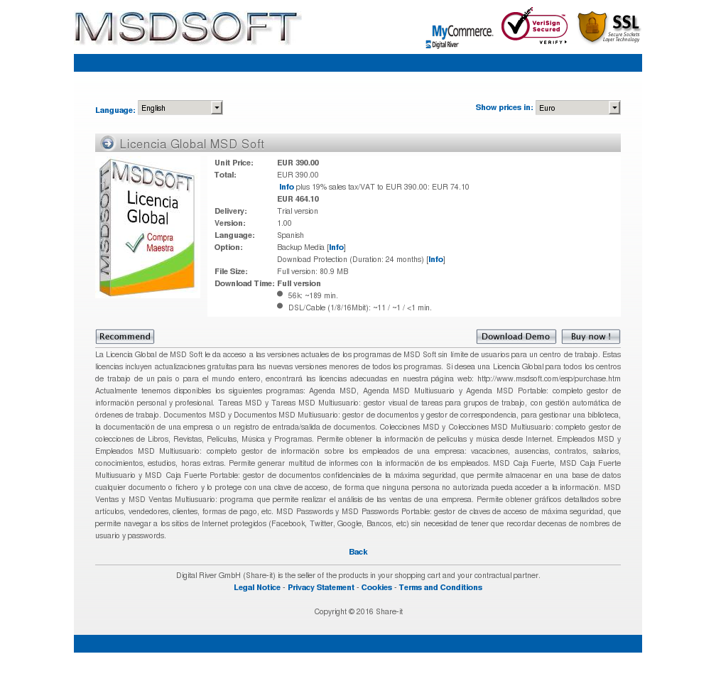 Licencia Global Msd Soft Howto