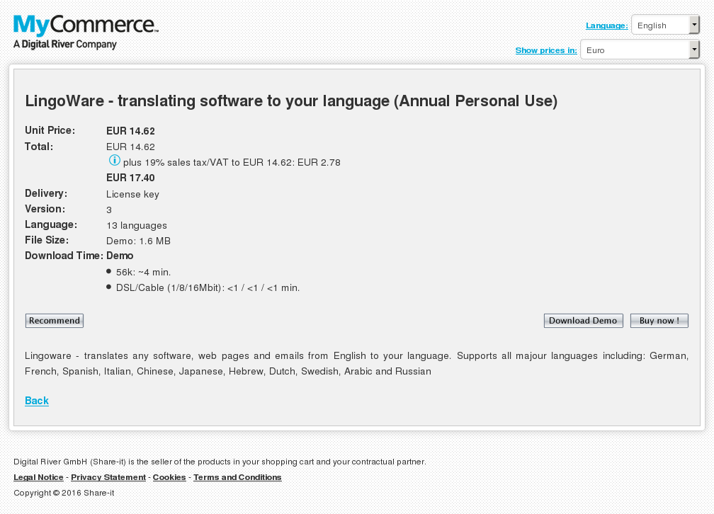 Lingoware Translating Software Your Language Perpetual Corporate Use Key Information