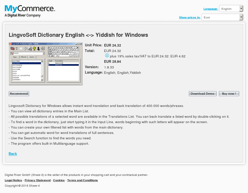 Lingvosoft Dictionary English Yiddish Windows Download