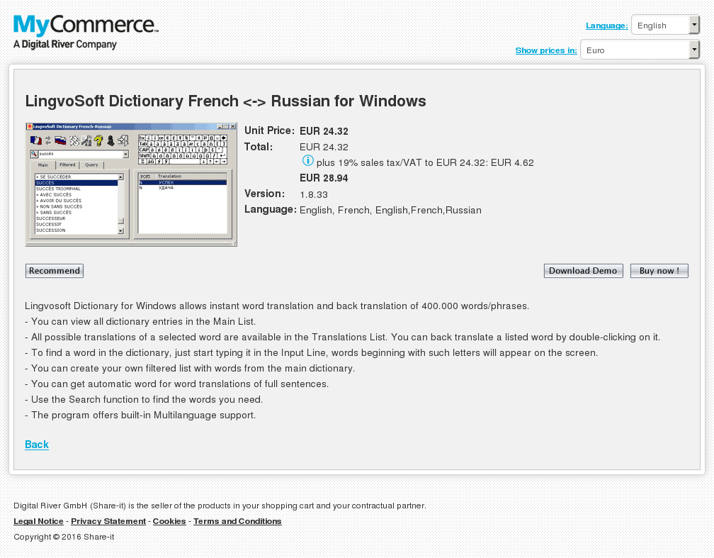 Lingvosoft Dictionary French Russian Windows Free