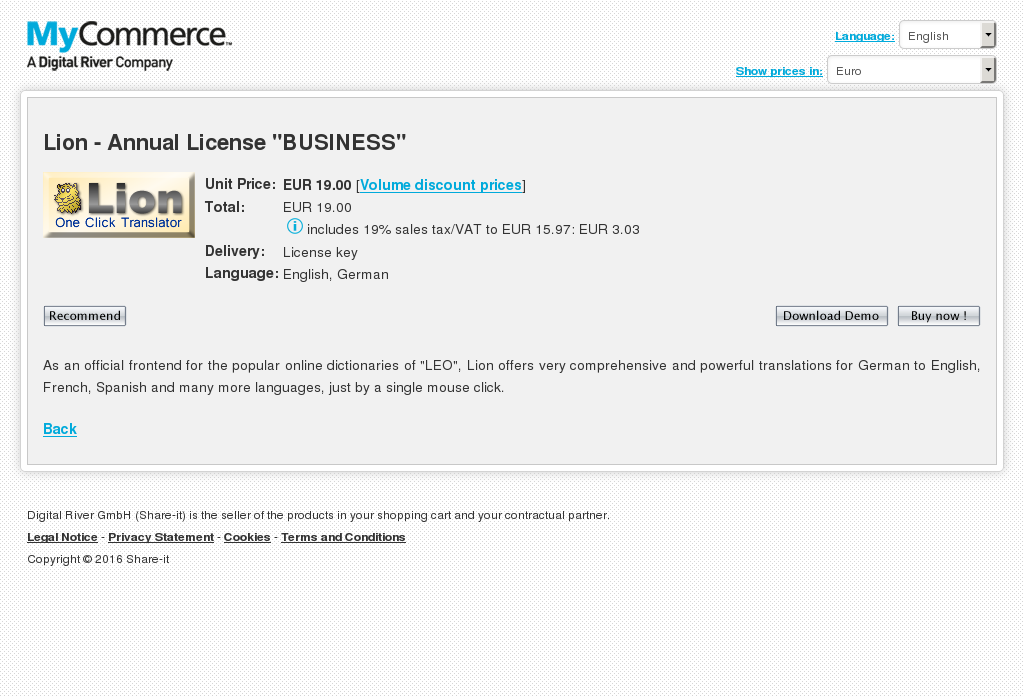 Lion Annual License Business Howto