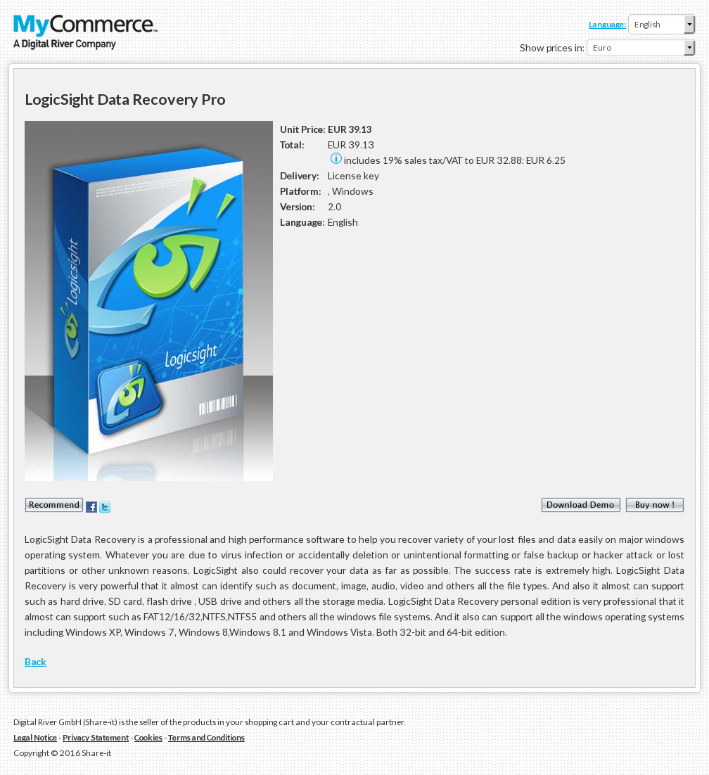 Logicsight Data Recovery Pro Features