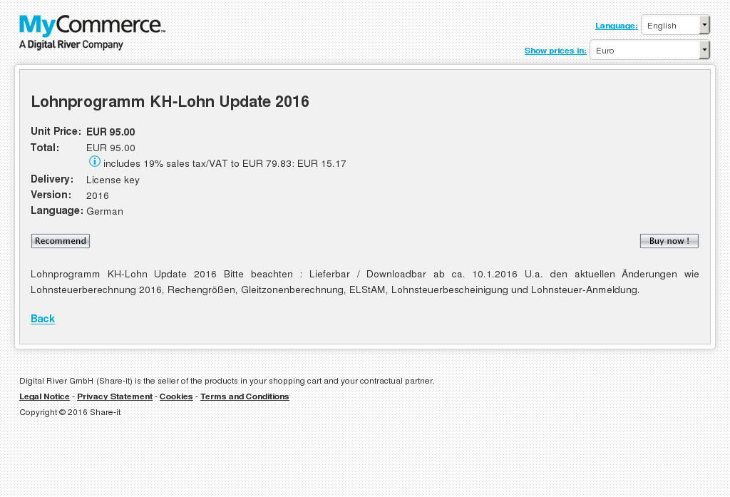Lohnprogramm Lohn Update Key Information