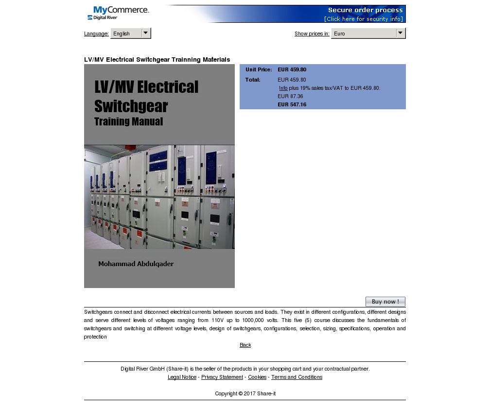 Electrical Switchgear Trainning Materials Free