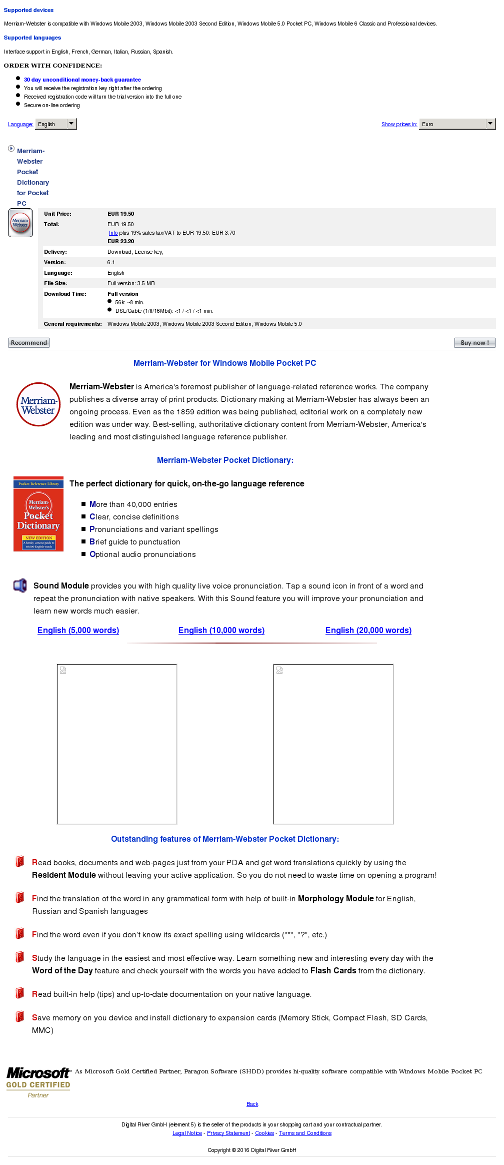 Merriam Webster Pocket Dictionary Howto
