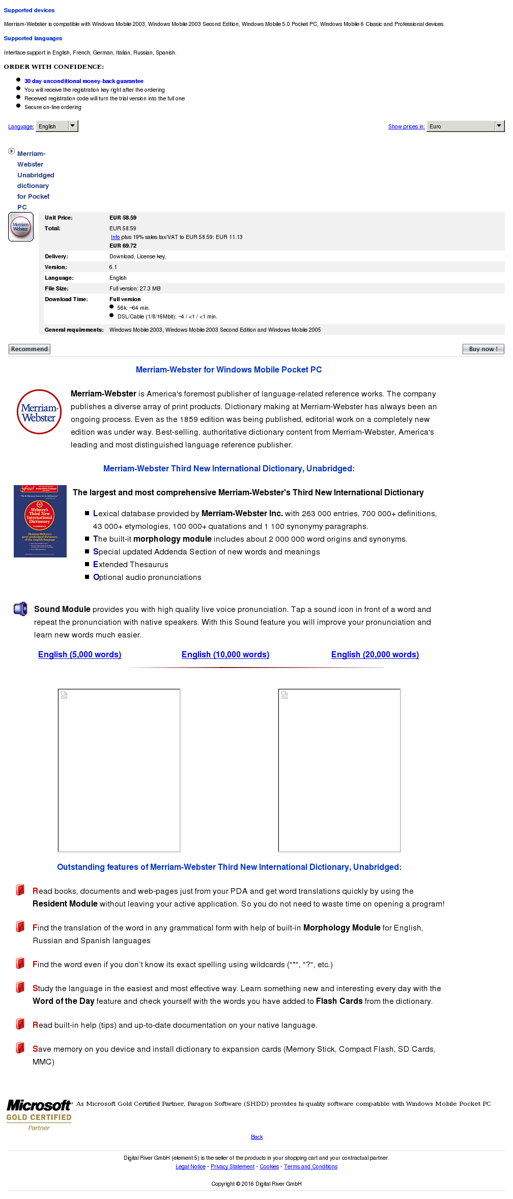 Merriam Webster Unabridged Dictionary Pocket Review