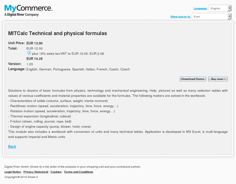 Mitcalc Technical Physical Formulas Key Information