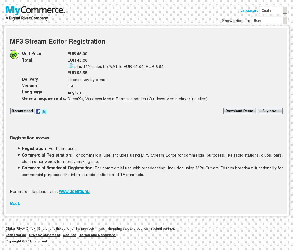 Stream Editor Commercial Registration Review