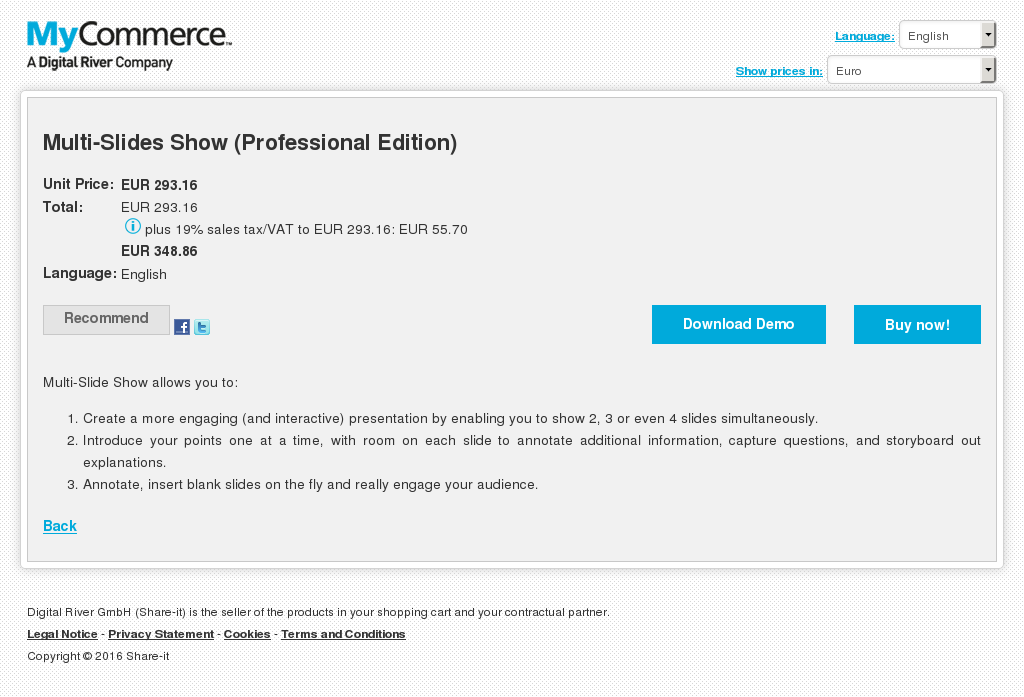 Multi Slides Show Professional Edition Features