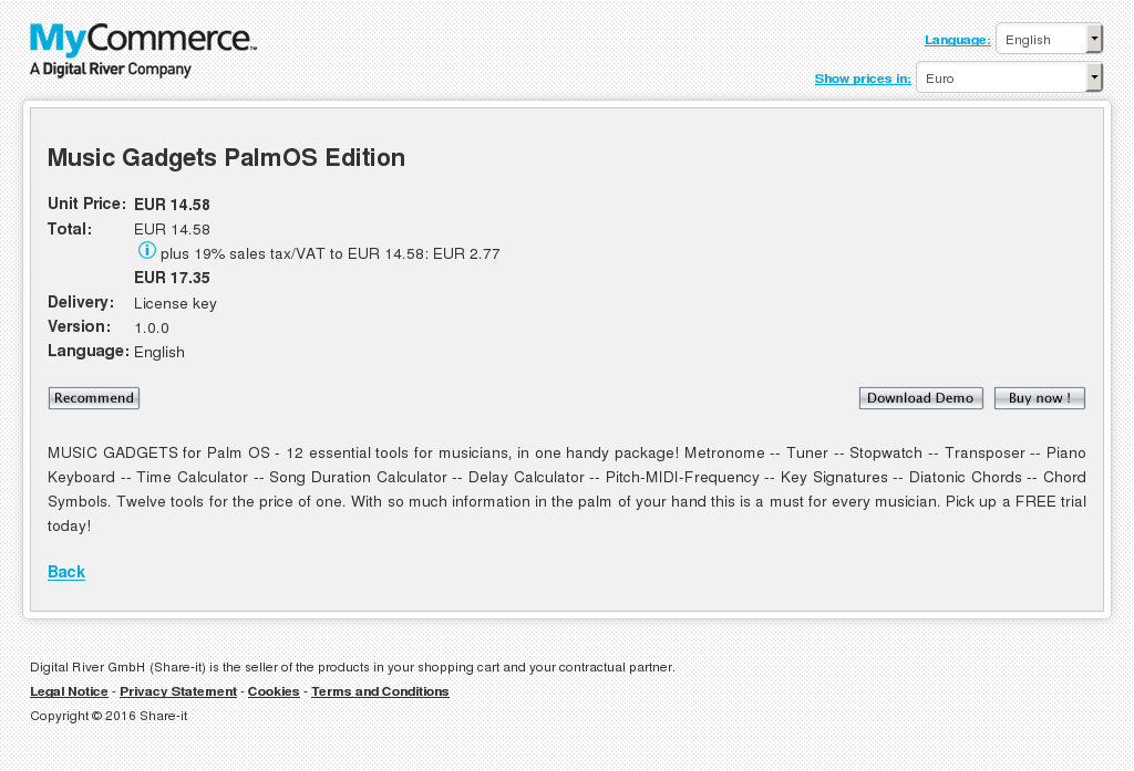 Music Gadgets Palmos Edition Download