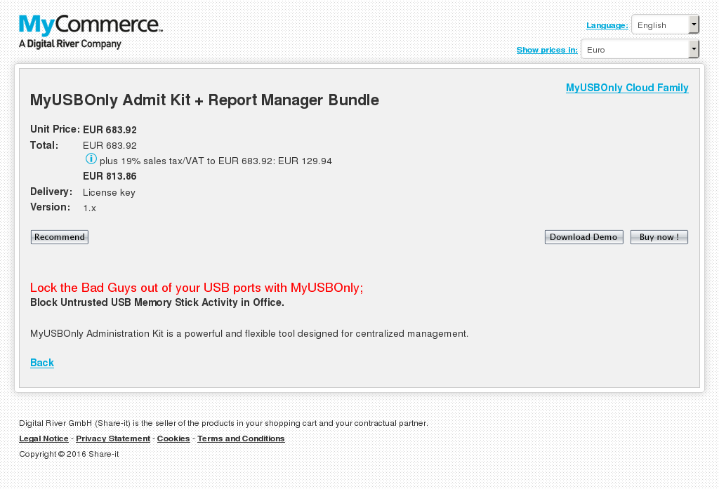 Myusbonly Admit Kit Report Manager Bundle Features