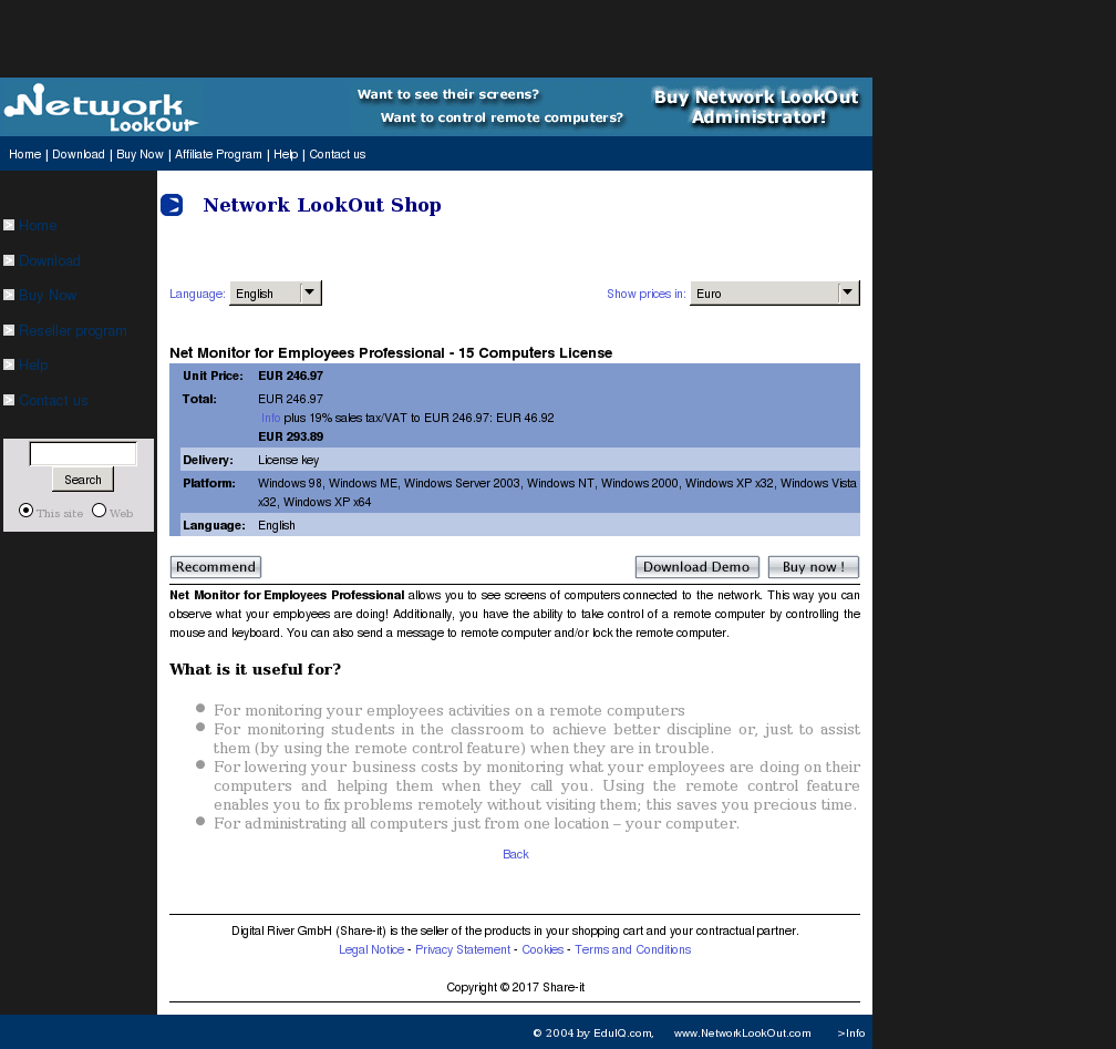 Net Monitor Employees Professional Computers License Review