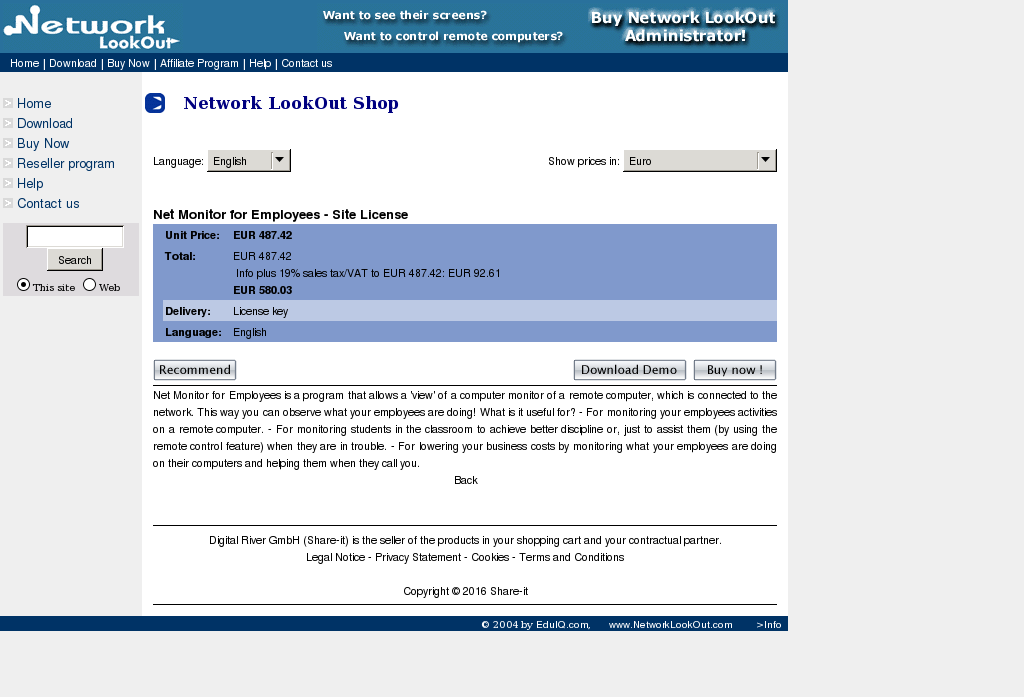 Net Monitor Employees Site License Howto