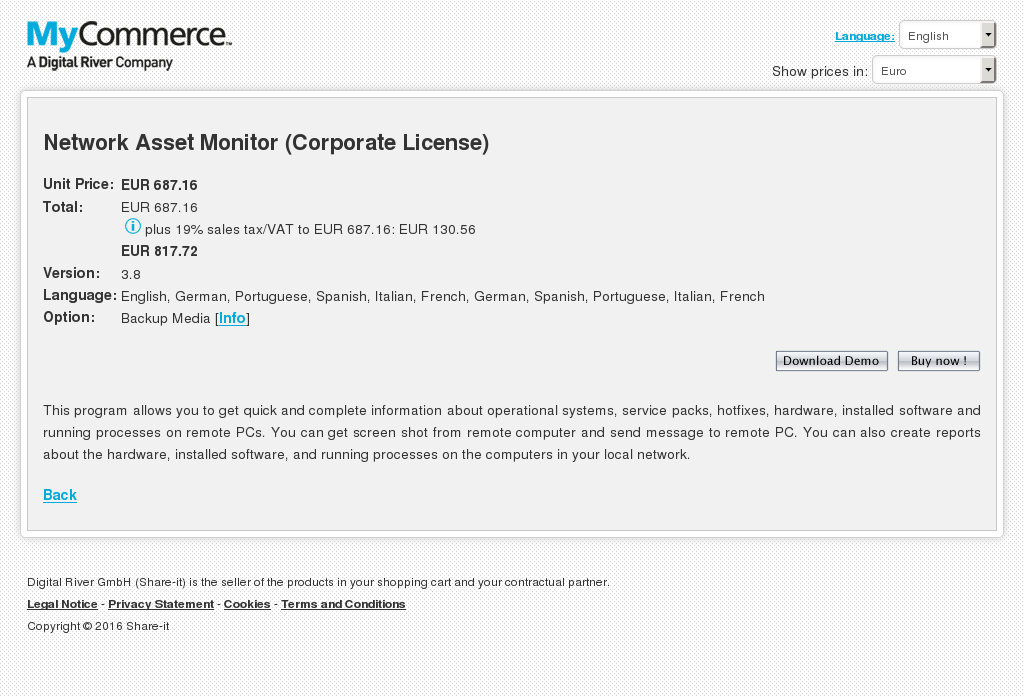 Network Asset Monitor Corporate License Free