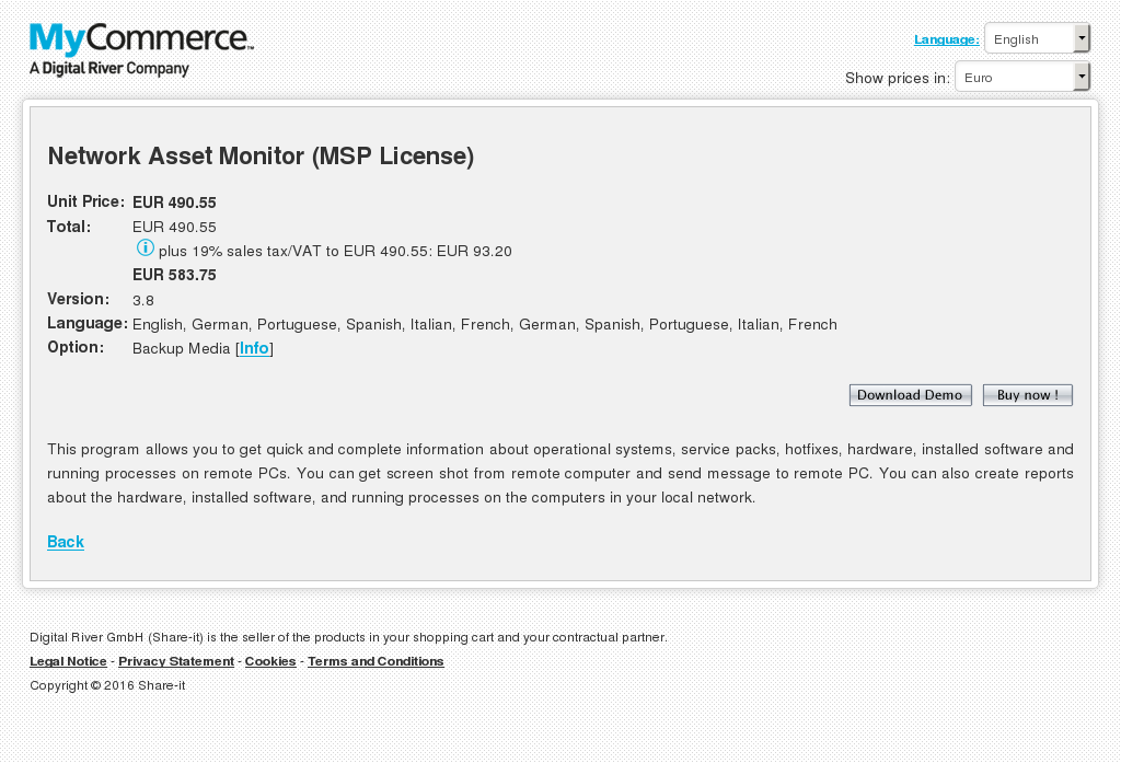 Network Asset Monitor Msp License Features