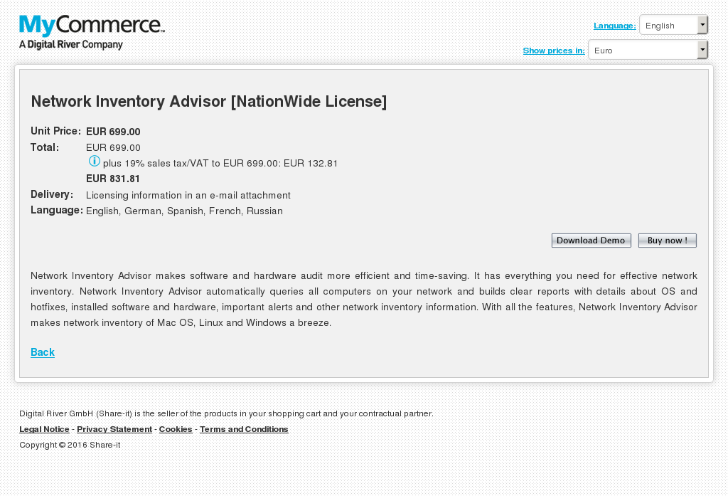 Network Inventory Advisor Nationwide License Features