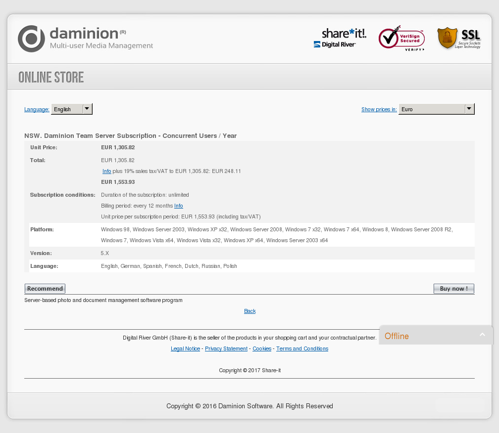 Nsw Daminion Team Server Subscription Concurrent Users Year Review
