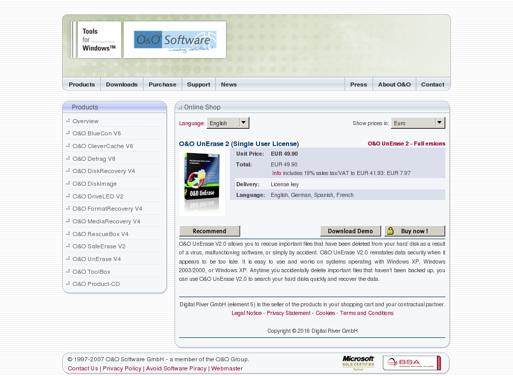 Unerase Single User License Howto